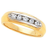 5-Stone Ladies or Gents Wedding Band Mounting