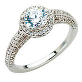 Semi-mount Engagement Ring or Matching Band