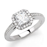 Halo-Style Engagement Ring or Matching Band