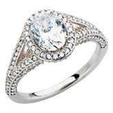 Semi-Mount Split Shank Engagement Ring or Band