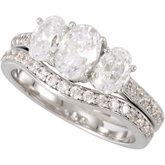 3-Stone Engagement Ring Mounting