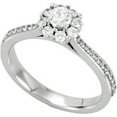 Halo-Style Cluster Engagement Ring or Matching Band