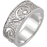 3/8 ct tw Diamond Etruscan Inspired Anniversary Band