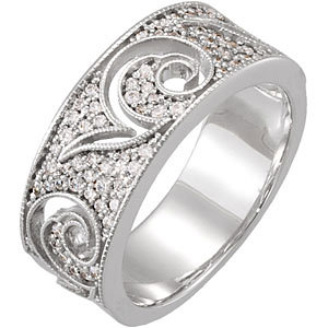 Diamond Etruscan Inspired Anniversary Band