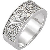 1/2 ct tw Diamond Etruscan Inspired Anniversary Band