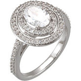 Halo-Styled Semi-Mount Engagement Ring or Band