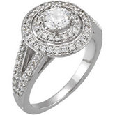 Round Entourage Split-Shank Engagement Ring Mounting