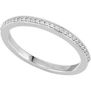 Sterling Silver .07 CTW Diamond Band