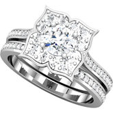 Accented Engagement Mounting or Matching Band