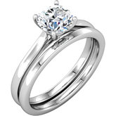 Round Shape Solitaire Engagement Ring or Band