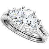 3- Stone Engagement Ring or Matching Band