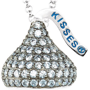 Sterling Silver June HERSHEYS KISSES Aubic Zirconia 16-1