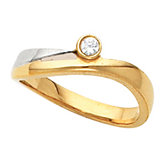 Two Tone Fashion Ring Mounting