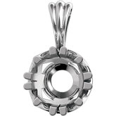 Round Fancy Prong Basket Pendant Mounting