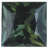 Square Genuine Green Sapphire (Black Box)