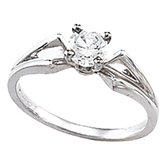 Cathedral Engagement Ring Mounting & Band