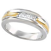 3-Stone Ladies or Gents Wedding Band Mounting