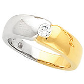 Bezel Set Ladies or Gents Wedding Band