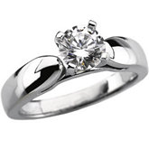 Cathedral Solitaire Engagement Ring Mounting