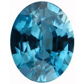 Oval Genuine Blue Zircon (Black Box)