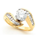Bypass Tulipset® Engagement Ring Mounting