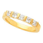 Princess-Cut Bar Channel Anniversary Ring Mounting