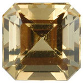 Modified Square Genuine Golden Precious Topaz (Black Box)