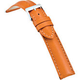 18mm Men's Regular Tan Select Matte Bridle Leather Watch Strap
