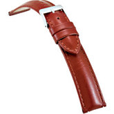 18mm Men's Regular Tan Select Polished Glove Leather Watch Strap