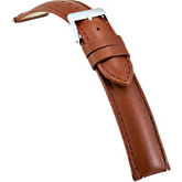 20mm Men's Regular Honey Select Water-Resistant Leather Watch Strap