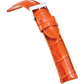 18mm Men's Regular Honey Select Embossed Alligator Leather Watch Strap