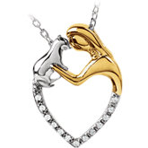 Tender Voices® Cat Love Heart Necklace