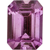 Emerald/Octagon Genuine Pink Sapphire (Black Box)