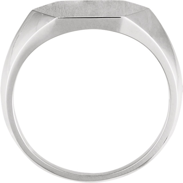 Sterling Silver 14mm Signet Ring