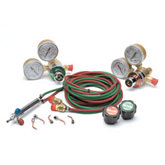 Oxygen/Propane Small Torch Kit W/ 5 Tips & Regulators