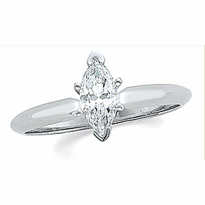 Marquise 6-Prong V-End Solitaire Ring Mounting