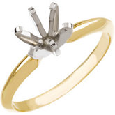 Round Pre-Notched 6-Prong Solitaire Ring Mounting