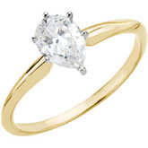 6-Prong Pear Shape Solitaire Mounting