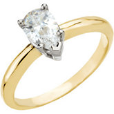 3 & 5-Prong Basket Pear Shape Solitaire Mounting