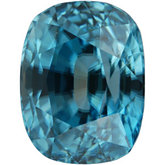 Antique Cushion Genuine Blue Zircon (Black Box)