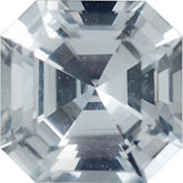 Modified Square Genuine White Sapphire (Black Box)