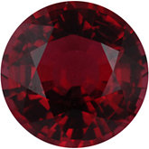Round Genuine Red Spinel (Black Box)