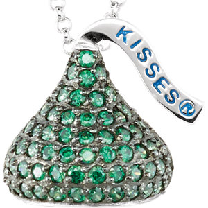 Sterling Silver May<br> HERSHEYS KISSES Aubic<br> Zirconia 16-1