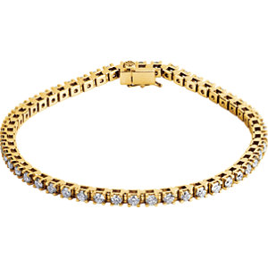 "14K Yellow 3 1/2 CTW Diamond Line 7.25"" Bracelet"
