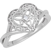 .025 ct tw Diamond Heart Ring