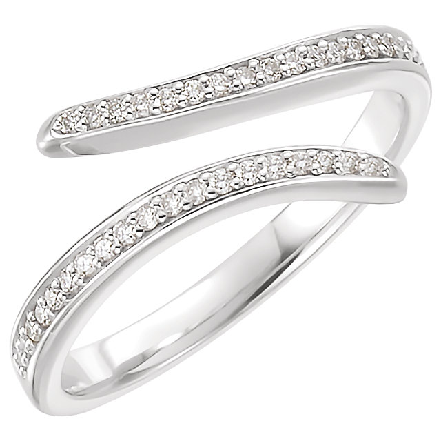 14kt White 1/6 CTW Diamond Ring