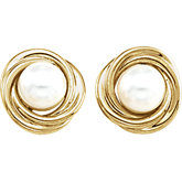 Akoya Cultured Pearl Knot Earrings