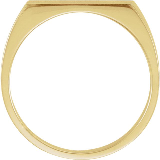 10K Yellow 15x6mm Men-s Signet Ring