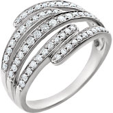 Diamond Multi-Row Ring