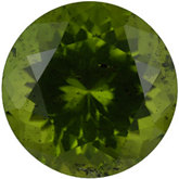 Round Genuine Peridot (Black Box)